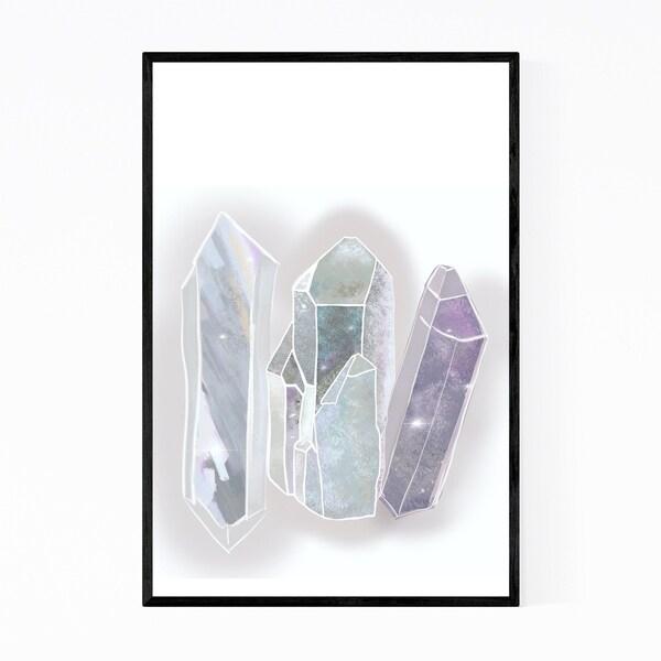 Noir Gallery Sparkling Crystals Nature Framed Art Print