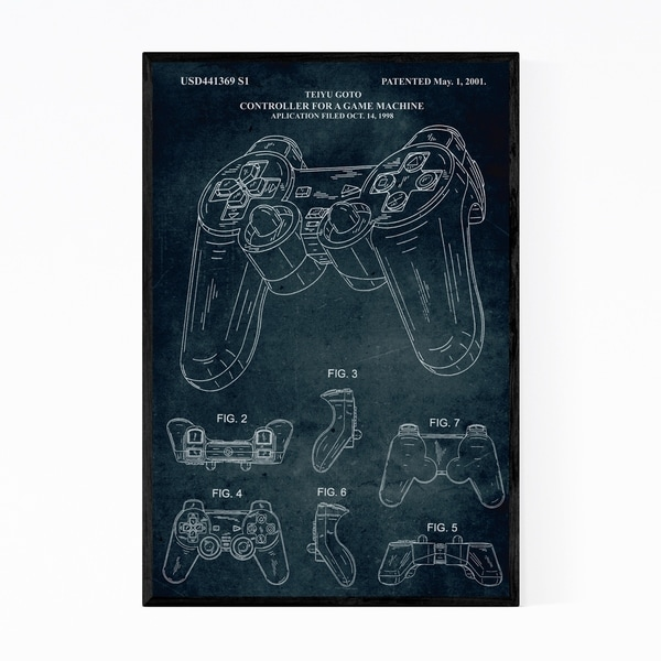 Noir Gallery Playstation Video Game Patent Print Framed Art Print