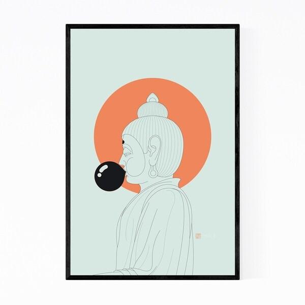 Noir Gallery Funny Buddha Humor Illustration Framed Art Print