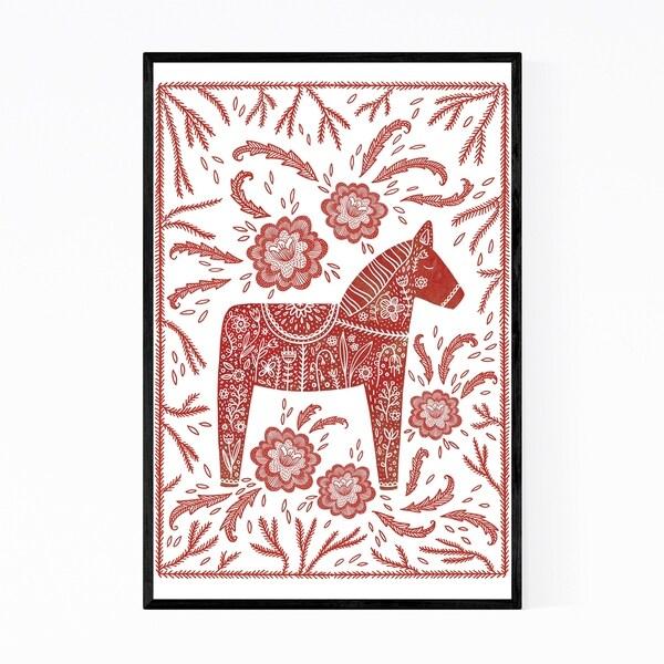 Noir Gallery Horse Animal Pattern Illustration Framed Art Print