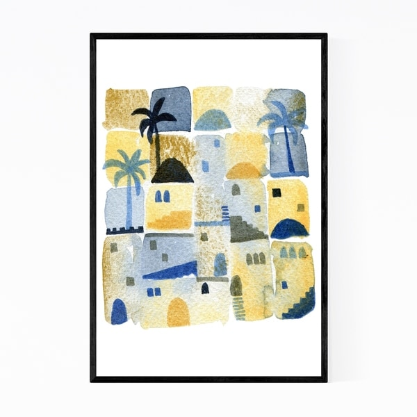 Noir Gallery Middle East Watercolor Painting Framed Art Print