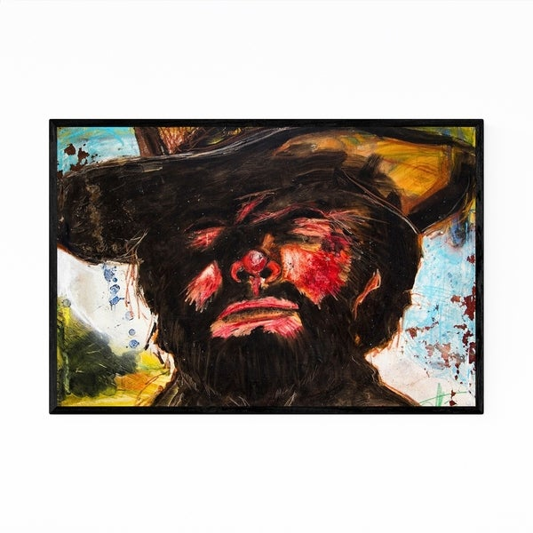 Noir Gallery Clint Eastwood Movie Portrait Framed Art Print
