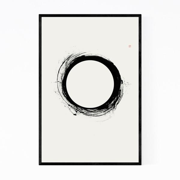 Noir Gallery Solar Eclipse Abstract Minimal Framed Art Print