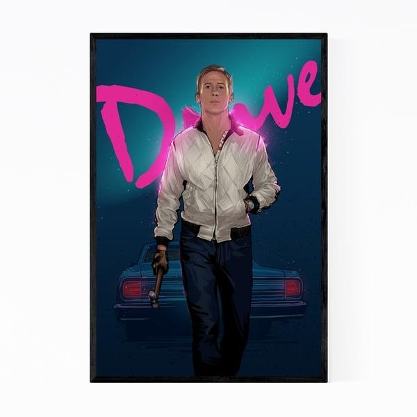 Noir Gallery Drive Ryan Gosling Framed Art Print