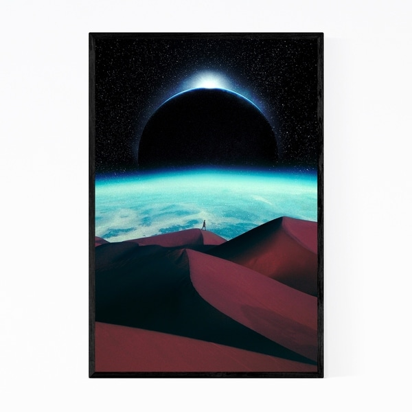 Noir Gallery Surrealist Vintage Sand Dunes Space Framed Art Print