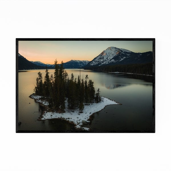 Noir Gallery Lake Wenatchee Washington Photo Framed Art Print