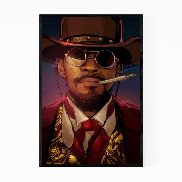 Noir Gallery Django Unchained Jamie Foxx Framed Art Print
