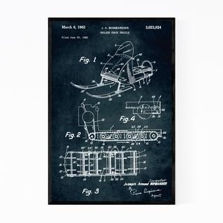 Noir Gallery Hotwheels Toy Car Patent Print Framed Art Print