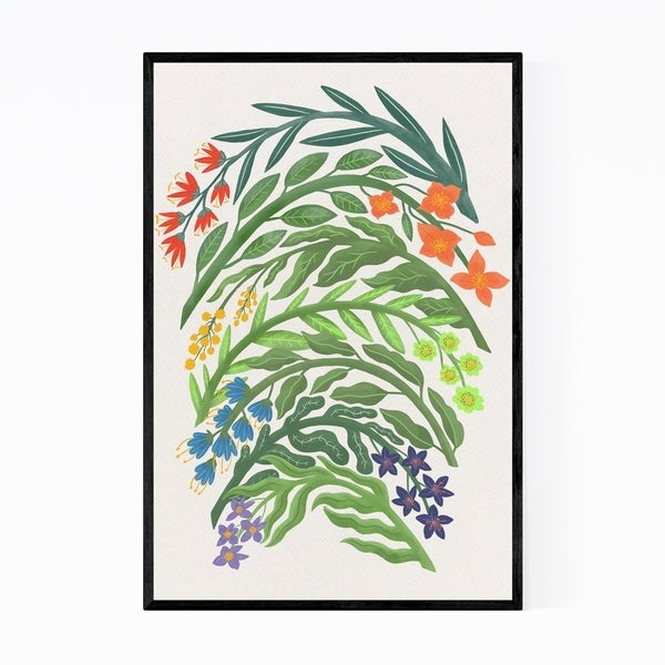 Noir Gallery Floral Botanical Pattern Nature Framed Art Print