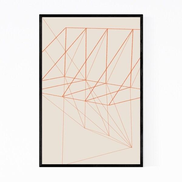 Noir Gallery Minimal Geometric Line Drawing Framed Art Print