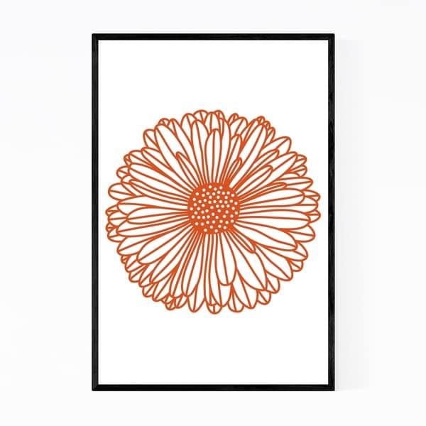 Noir Gallery Gerbera Daisy Floral Botanical Framed Art Print