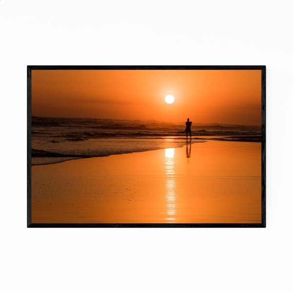 Noir Gallery Bali Indonesia Beach Sunset Framed Art Print