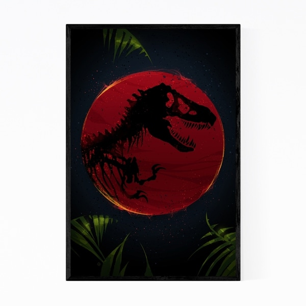 Noir Gallery Jurassic Park Movie Framed Art Print