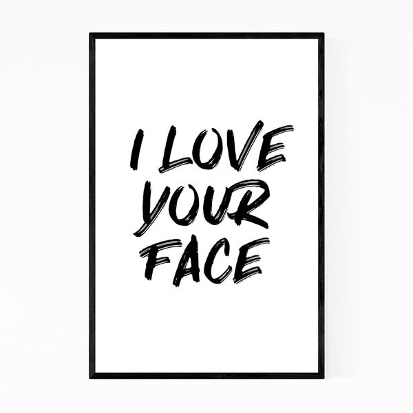 Noir Gallery Cute Love Typography Quote Framed Art Print