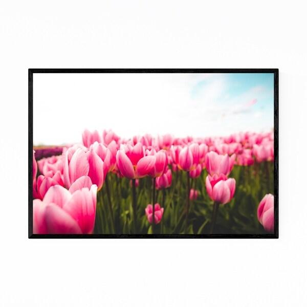 Noir Gallery Tulips Floral Botanical Photography Framed Art Print