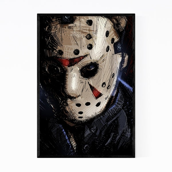 Noir Gallery Jason Friday the 13th Framed Art Print