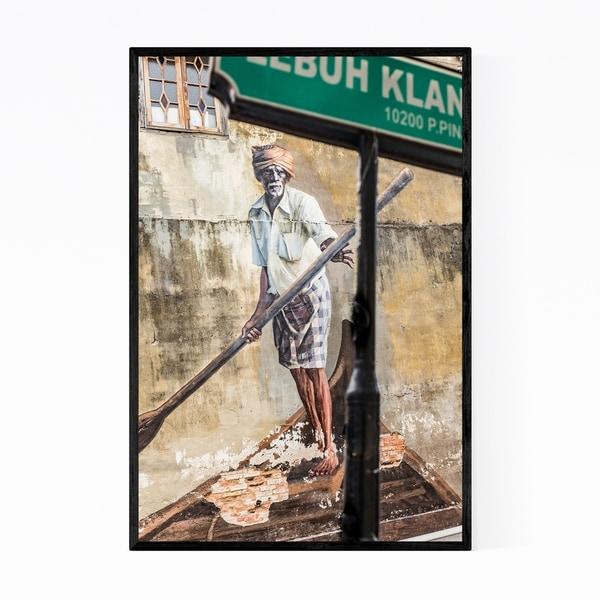 Noir Gallery George Town Malaysia Boatman Framed Art Print