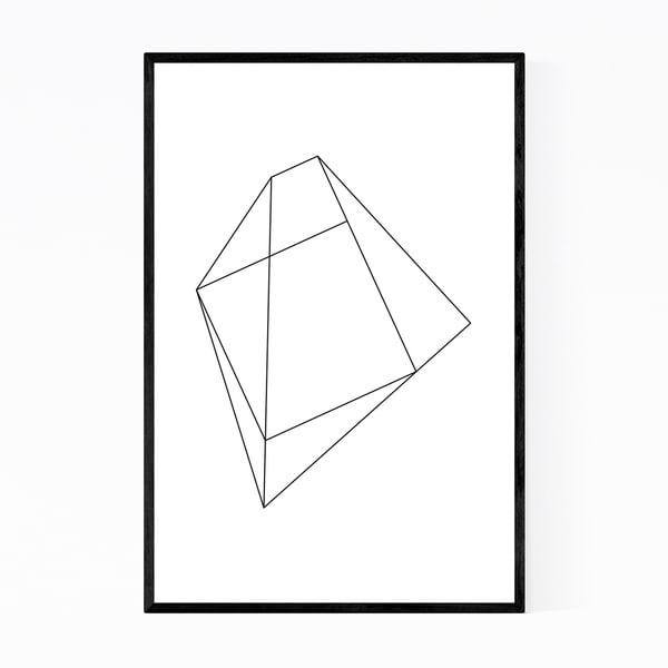 Noir Gallery Simple Abstract Minimal Geometric Framed Art Print