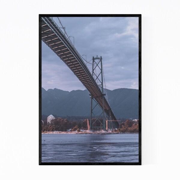 Noir Gallery Lion's Gate Bridge Vancouver BC Framed Art Print