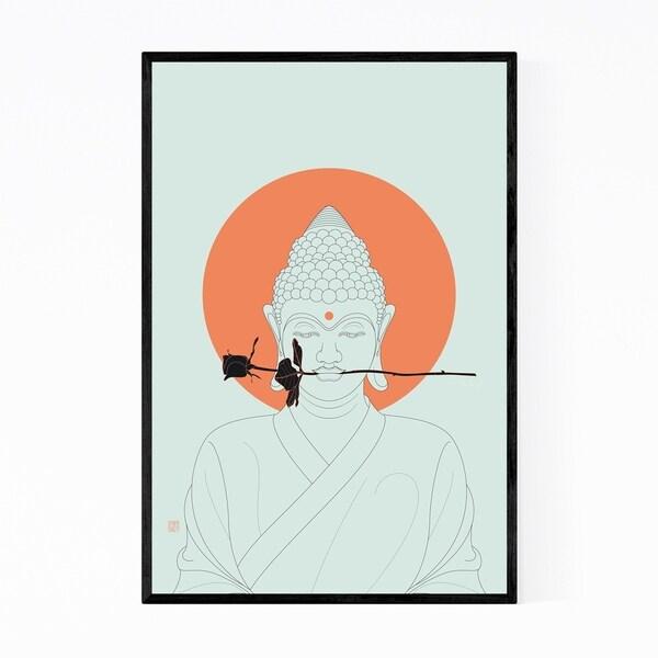 Noir Gallery Buddha Minimal Illustration Framed Art Print