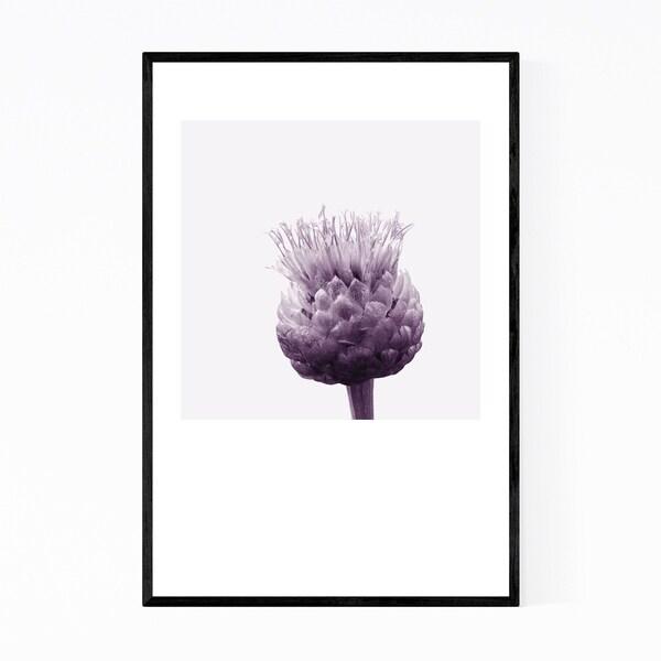 Noir Gallery Minimal Centaurea Floral Monochrome Framed Art Print