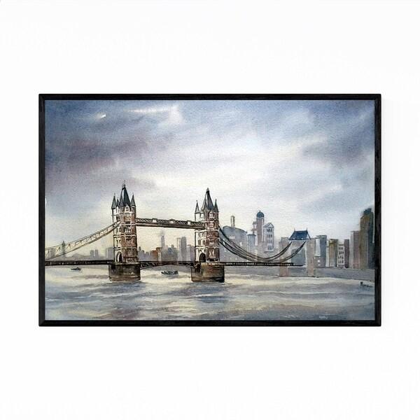 Noir Gallery London Tower Bridge Painting Framed Art Print