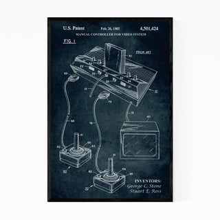 Noir Gallery Atari Video Game Patent Print Framed Art Print