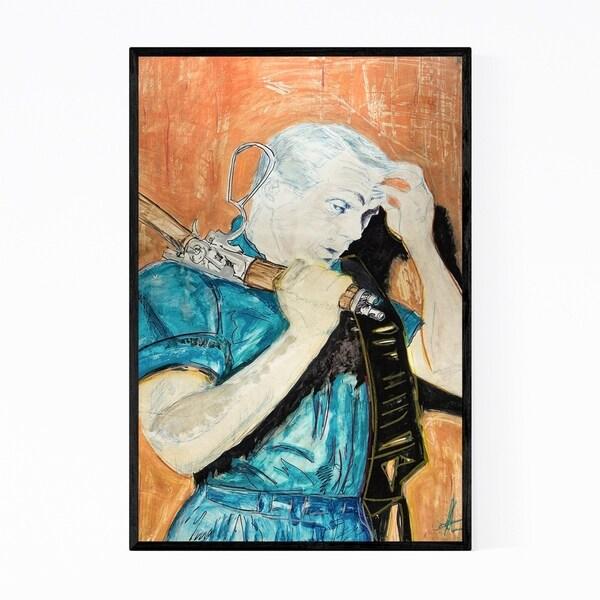 Noir Gallery Steve McQueen TV Movies Portriat Framed Art Print
