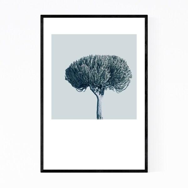 Noir Gallery Minimal Succulent Tree Pastel Floral Framed Art Print