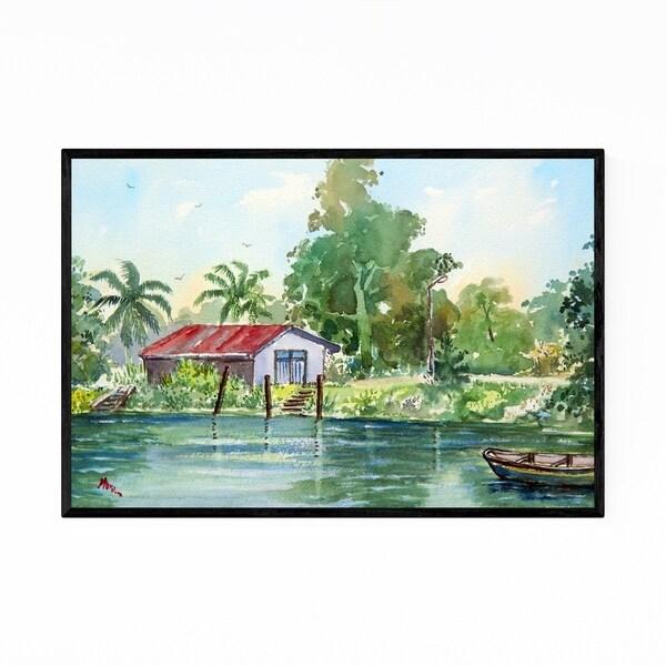 Noir Gallery Suriname Landscape Painting Framed Art Print