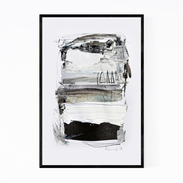 Noir Gallery Mixed Media Abstract Neutral Tones Framed Art Print
