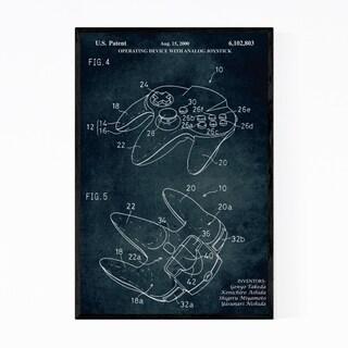 Noir Gallery Nintendo 64 Video Game Patent Print Framed Art Print