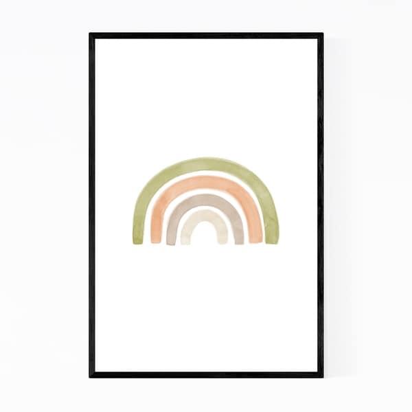 Noir Gallery Minimal Organic Rainbow Framed Art Print