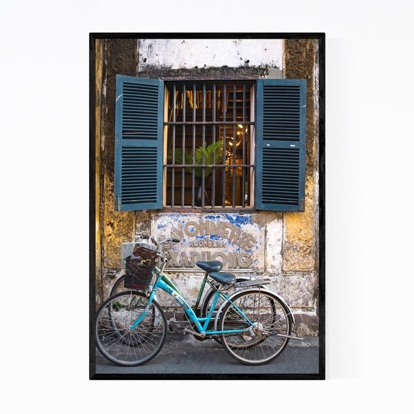 Noir Gallery Hoi An Vietnam Bicycle Framed Art Print