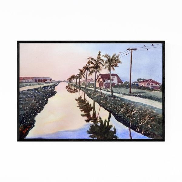 Noir Gallery Paramaribo Coastal Landscape Framed Art Print