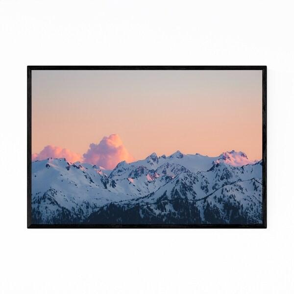 Noir Gallery Olympic Mountains Sunset Nature Framed Art Print