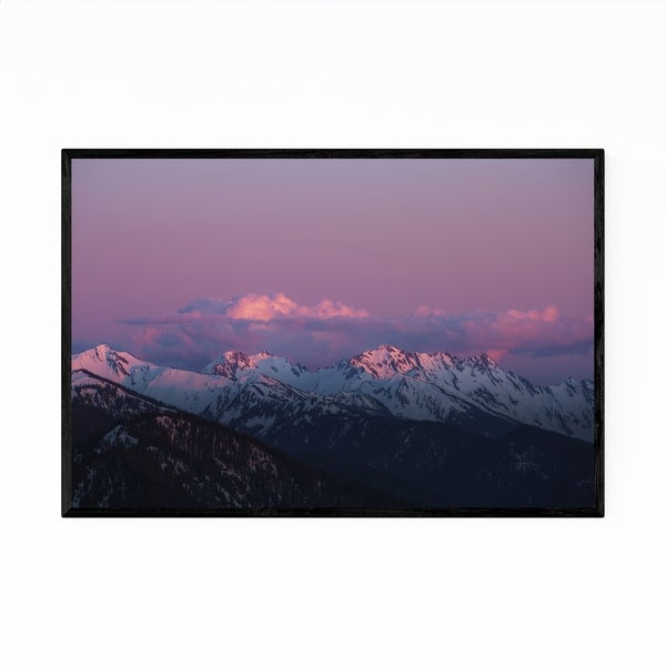 Noir Gallery Olympic Mountains Sunset Nature Framed Art Print