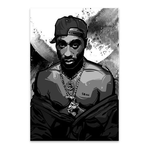 Noir Gallery Tupac Shakur 2 Pac Metal Wall Art Print