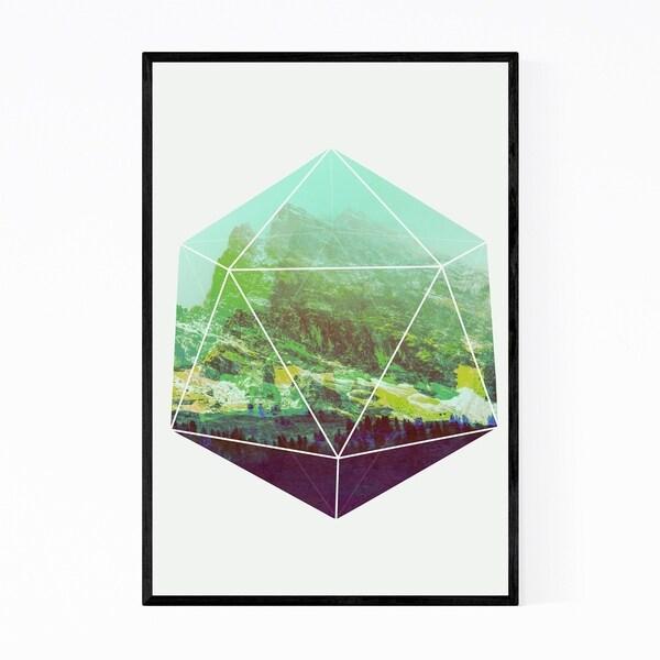 Noir Gallery Minimal Geometric Terrarium Illustration Framed Art Print
