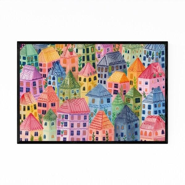 Noir Gallery Urban Cityscape Illustration Framed Art Print