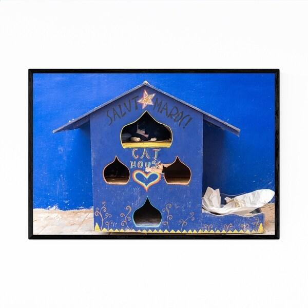 Noir Gallery Cats Morocco Blue Photography Framed Art Print