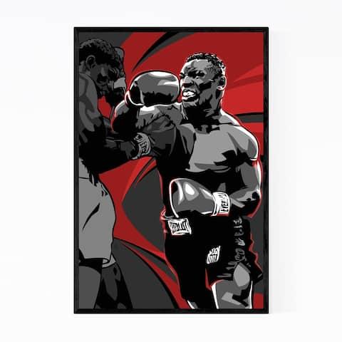 Noir Gallery Mike Tyson Boxing Sports Framed Art Print