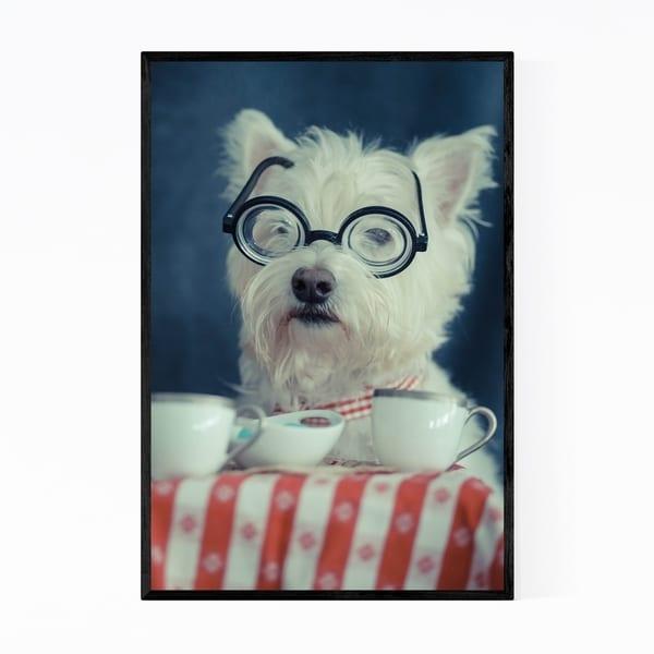 Noir Gallery Funny Dog Humor Tea Lover Gift Framed Art Print