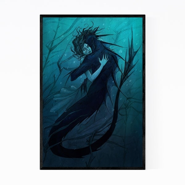 Noir Gallery Fantasy The Death and The Maiden Merman Framed Art Print
