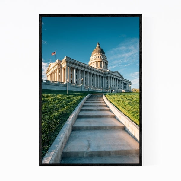 Noir Gallery Utah State Capitol Salt Lake City Framed Art Print