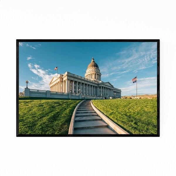 Noir Gallery Utah State Capitol Salt Lake City Framed Art Print
