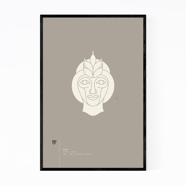 Noir Gallery Virgo Star Sign Astrology Minimal Framed Art Print