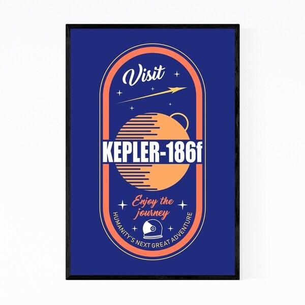 Noir Gallery Kepler Vintage Space Astronomy Framed Art Print
