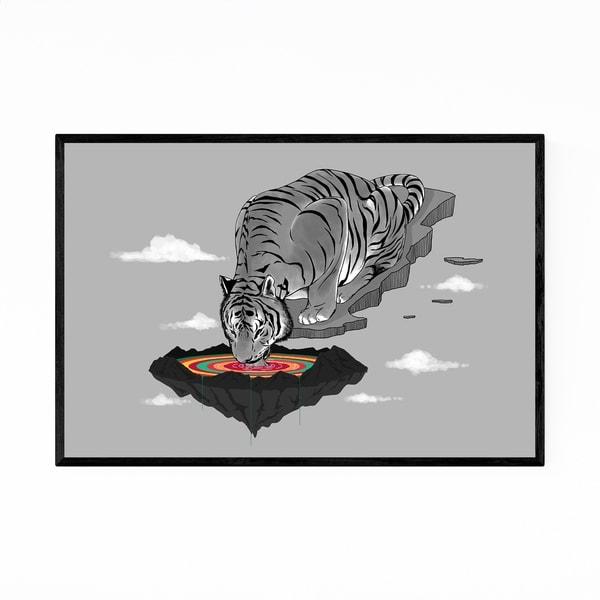 Noir Gallery Tiger Funny Animal Humor Framed Art Print