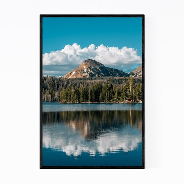 Noir Gallery Unita Mountains Utah Lake Nature Framed Art Print